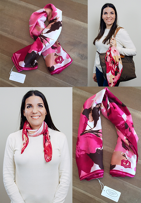 Elizabeth Gillett Read for the Cure Scarf